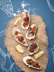 Gegrilde oesters met chorizoboter - Sante.nl