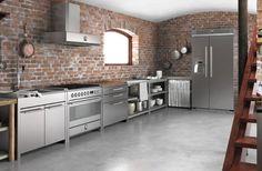 Den ofärdiga stilen stark – tegelvägg i köket nästa trend
