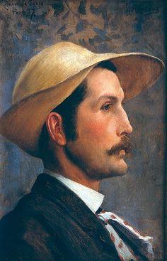 Retrato de Hipólito Caron. Retrato inédito, pintado em Paris, em 1887, por seu colega Rodolfo Amoedo (1857-1941).
