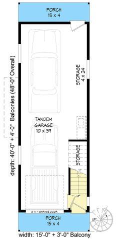 Tandem Garage, Car Garage, Interior Staircase, Floor Framing, Rooftop Deck, Apartment Plans, Roof Plan, Deck Plans, Modern Farmhouse Decor