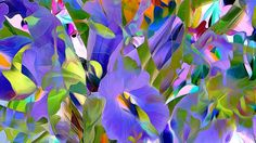 Abstract Art, Flowers Painting, Abstract Flowers Painting Background HD