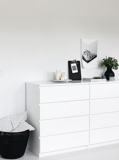 white drawer, bedroom by AMM blog