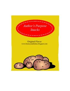 Author's Purpose Games.  Teach author's purpose with pretend potato chips.