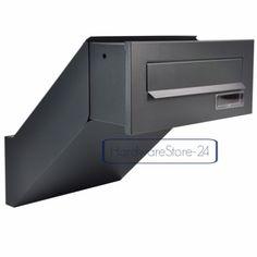 Mauerdurchwurf-Briefkasten-Anthrazitgrau-Matt-NEU-Einbaubriefkasten-RAL-7016