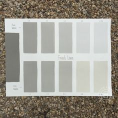 Chalk Paint® French Linen Custom Color Chart using Pure White and Old White. Read more on our blog at Suitepieces.com   Suite Pieces