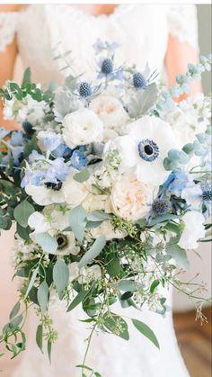 Light Blue Flowers, Blue Wedding Flowers, Flower Lights, Bridal Flowers, Floral Wedding, Wedding Colors, Wedding Bouquets, Blue Wedding Centerpieces, Wedding Decorations