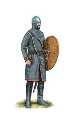 Roman medium cavalryman (the koursôr), 11th century AD. Artwork by Tom Croft.