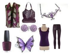 """""""Black And Purple"""" by monika-przymuszala ❤ liked on Polyvore featuring OPI, J Brand, Yves Saint Laurent, White House Black Market, Bling Jewelry and Stephen Webster"""