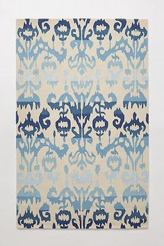 """Anthropologie Moroccan Blue Ikat Hand Tufted Rug 7'6"""" x 9'6"""" CLOSEOUT , $1229, New SALE!! #Anthropologie #Transitional"""