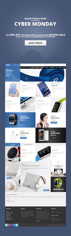 Mega WebShop #Joomla #Shop #template has been developed to allow ...