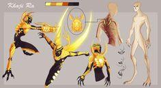 Blue Beetle: Reach Warriors by dou-hong on DeviantArt Superhero Characters, Fantasy Characters, Anime Characters, Character Concept, Character Art, Concept Art, Solgaleo Pokemon, Arte Robot, Blue Beetle
