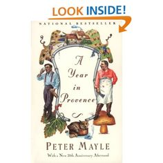 A Year In Provence: In this witty and warm-hearted account, Peter Mayle tells what it is like to realize a long-cherished dream and actually move into a 200-year-old stone farmhouse in the remote country of the Lubéron with his wife and two large dogs. He endures January's frosty mistral as it comes howling down the Rhône Valley, discovers the secrets of goat racing through the middle of town, and delights in the glorious regional cuisine.