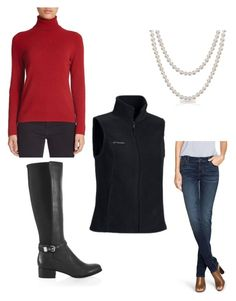 """""""VMI Tailgating Outfit"""" by erin-van-valkenburg ❤ liked on Polyvore featuring Lord & Taylor, White House Black Market, Columbia, Bling Jewelry, VMI, whbm and vmitailgating"""