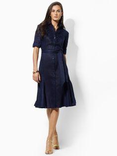 Navy blue Shirt dress.