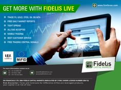 """GET MORE WITH #FIDELIS #LIVE"" 1:Trade FX, Gold, CFDs, Oil on MT4 2:Free daily market reports 3:Tight spread 4: All EAs accepted 5:Mobile trading 6:Best customer service 7:Free trading central signals   www.fcmforex.com #forextrading #currencytrading #forexevents #fideliscm"