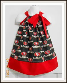Custom Made Pillowcase DressNFLSan Francisco 49ers3T by BaroKids, $18.00