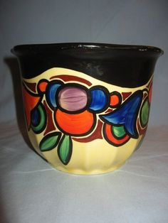 Czech Art Deco Art Pottery Planter | eBay