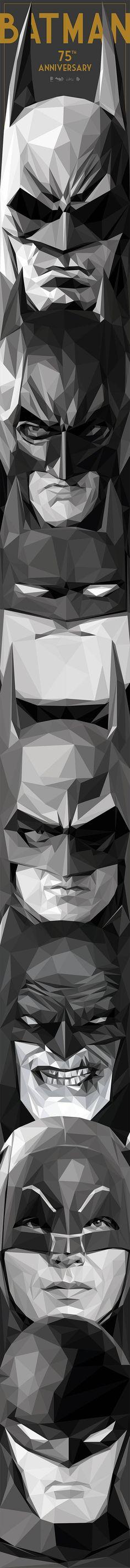 Trabajo de ilustración por el 74 aniversario de Batman...Batman 75th Anniversary artwork - Visit now to grab yourself a super hero shirt today at 40% off!