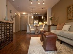 Another shot of the model living and dining room at AMLI Ponce Park, a luxury apartment community coming soon to Atlanta!