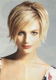 Cute Blonde Short Shag Hairstyles pics