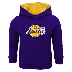 847ece3a097 Our Lakers Pullover Sweatshirt with Hood will keep your sweet fan warm and  cozy while sporting