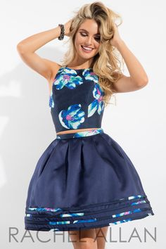 Rachel Allan 4180 Navy Homecoming Dress