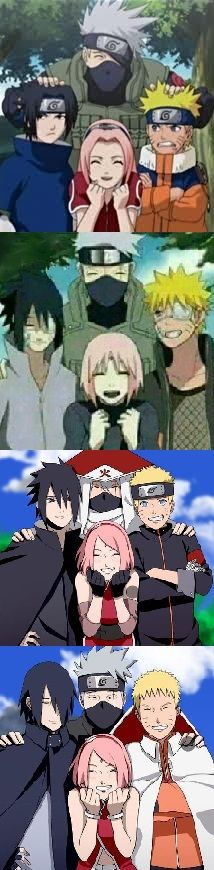 Team 7 through the years. It's so easy to fall in love with these characters as you watch them grow up!
