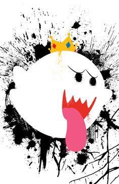 King Boo from the Mario games Super Mario Tattoo, Boo Mario, Nerdy Wallpaper, Legend Of Zelda, King Boo, Mario Kart, Harajuku, Geek Art, Video Game Art