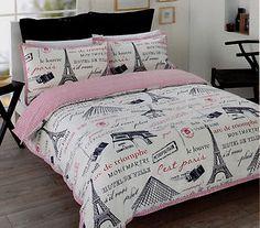 Paris Eiffel Tower White Black Red Double Sz Quilt Cover Set New Paris Rooms, Paris Bedroom, Paris Bedding, Dream Bedroom, Master Bedroom, Bedroom Themes, Bedroom Decor, Bedroom Ideas, Bedroom Inspo