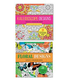 Love this Two-Piece Kaleidoscope & Floral Designs Coloring Book Set on #zulily! #zulilyfinds