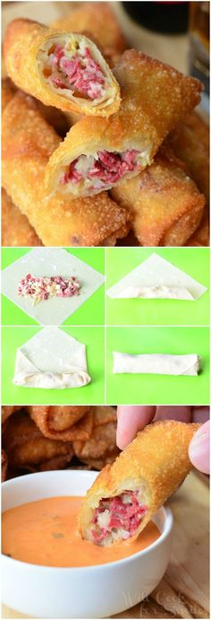 Reuben Egg Rolls | from willcookforsmiles... #snack #appetizer