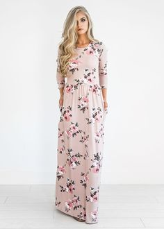 Kissed by a Classic Rose Maxi Dress, Burgundy Classic Rose Midi Dress, JessaKae, Fashion, style, womens fashion, floral, fall floral, modest, blonde hair, plus size fashion
