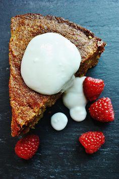 heirloom: Almond Polenta Cake with Elderflower Honey Glaze