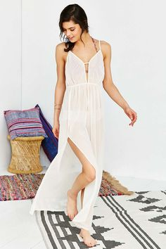 Out From Under Delicate Sheer Maxi Dress - Urban Outfitters