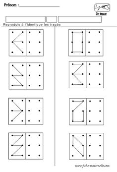 A faire sur les geoboard Kindergarten Worksheets, Preschool Activities, Preschool Poems, Visual Perception Activities, Vision Therapy, Montessori Math, Pre Writing, Math For Kids, Numeracy