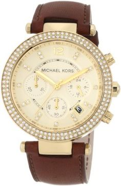 Michael Kors Chronograph Gold Dial Diamond set Ladies Watch MK2249 Michael Kors. $181.00