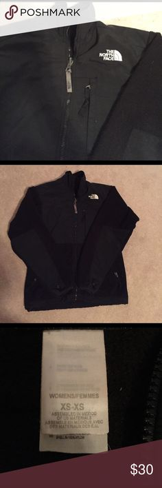 North Face XS Black Fleece Black, Denali fleece zip up North Face. Women's XS The North Face Jackets & Coats