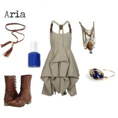 Fashion Inspired by Aria, from Pretty Little Liars. *Sparkle On and Wear Bows*