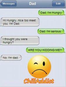 Iphone Text Messages: Hi I'm Dad