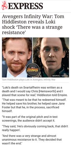 Strange? It wasn't strange. It was a vey much natural resistance. Mr Hiddleston are you even aware how many people you've touched with that character?