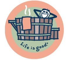 All Things Jeep - Life is good Jake in Hot Tub Round Sticker