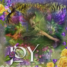 Spring Joy ...Fairy Blingee by stina scott