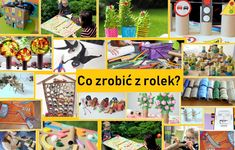 Co zrobić z rolek po papierze toaletowym Diy And Crafts, Arts And Crafts, Children, Kids, Photo Wall, Frame, Fun, Artworks, Home Decor
