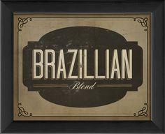 Brazillian Blend Framed Textual Art