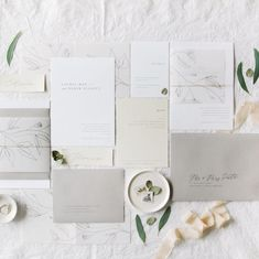 Our Laurel Suite is a beautiful minimal & organic design | organic, pencil, calligraphy, illustration, greenery, vellum, simple, fonts, beautiful, black, white, grey, style, envelope, unique | Gatherie Creative