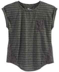 Epic Threads Girls' Lace-Inset Dolman Top, Only at Macy's