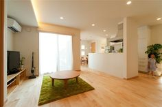 リビング @ 子育てすくすくプロジェクト モデルハウス / みどりと風工房 施工実例