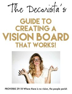 Entrepreneuress 101: How to create a stylish & successful vision board — The Decorista
