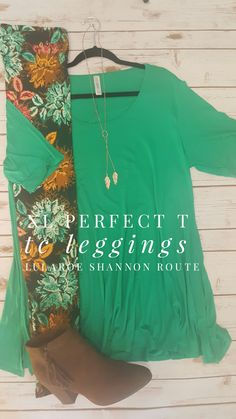 The perfect outfit for spring!    #lularoe #leggings #lularoeperfecttee #lularoeshannonroute