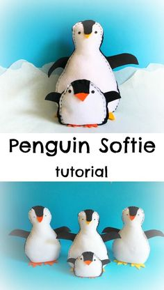 penguin softie tutorial kids make